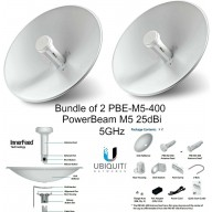 Ubiquiti PBE-M5-400 (2-pack) PowerBeam M5 25dBi 5GHz AirMAX CPE 400mm 150+ Mbps